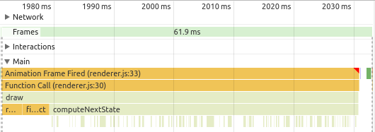 JS engine performance profile